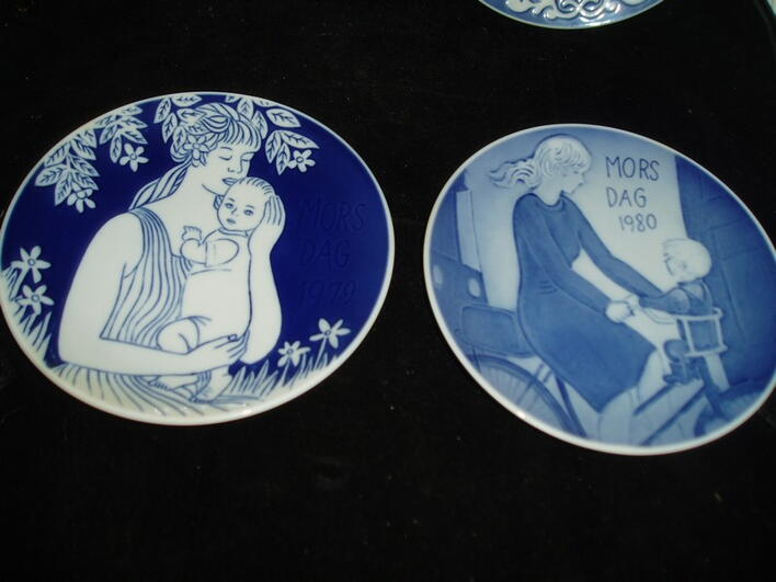 Mothers Day plates from  Royal Copenhagen